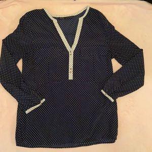 Zara polka dot blouse small